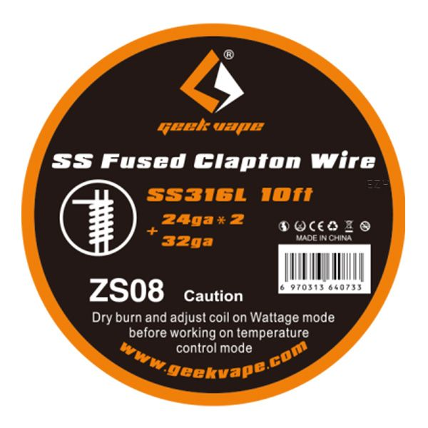 ZS08 GeekVape SS Fused Clapton Wire