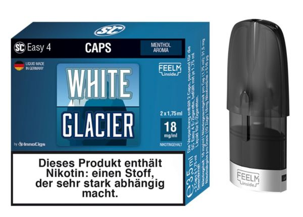 Easy 4 Caps White Glacier 9 mg