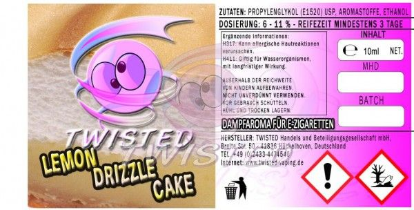 Twisted Lemon Drizzle Cake Aroma - 10ml