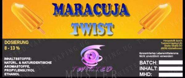 Twisted Maracuja Twist Aroma - 10ml